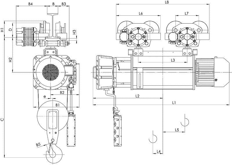 Канатный электротельфер BТ10